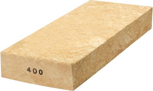 Wetsteen geel-wit keramische steen korrel 400