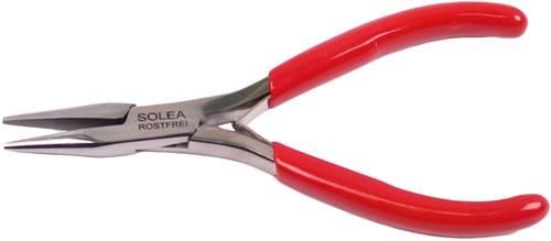 Zalmgratentang rechte bek zonder ribbels RVS 13cm rood