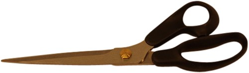 Coupeuseschaar zwarte kunststof ogen 25 cm