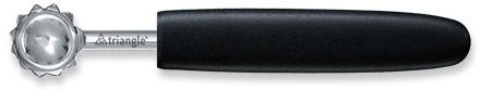 Triangle Professional Tomaat / Aardbei ontkroner roestvrijstaal met glasvezelversterkt zwart Polyamide handvat