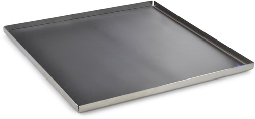 Mono diner dienblad, 23 x 23 cm met anti slip PVC-inzet