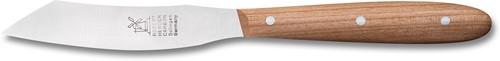 Robert Herder Yatagan mini Groente-/fuitmes 8 cm Roestvrij staal lemmet met kersenhouten heft