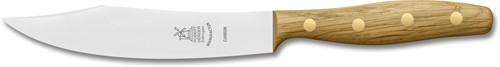 Robert Herder Hechtsabels portioneermes carbon staal, 15 cm lemmet, eikenhouten handvat