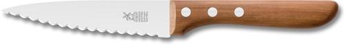 Robert Herder universeelmes RVS 13 cm dubbel konvex appelhout