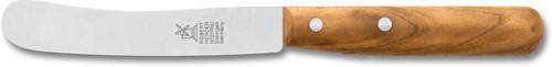 Ontbijtmes Buckels 12 cm RVS heft abrikozenhout