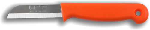 Solingen Aardappelmesje oranje met gat RVS 6 cm
