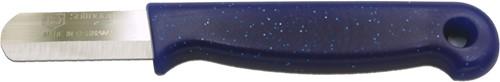 Paprikamesje bandstaal blauw heft met gat