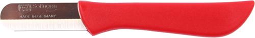 Paprikamesje bandstaal roestvrij rood heft (dun)
