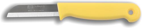 Solingen Aardappelmesje geel met gat RVS 6 cm