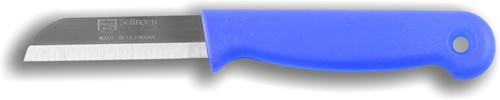 Solingen Aardappelmesje blauw met gat RVS 6 cm