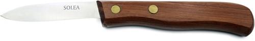 Stripmes met houten heft en koperen nagels 7 cm