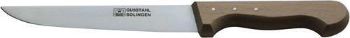Steekmes roestvrijstaal 17,5 cm beukenhouten heft