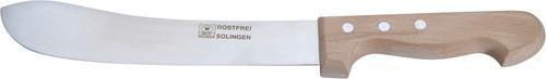 Blokmes 17,5 cm roestvrijstaal met beukenhouten heft