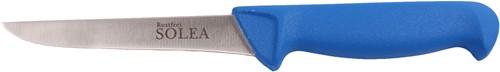 Solea Uitbeenmes RVS 12,5 cm blauw ppn heft