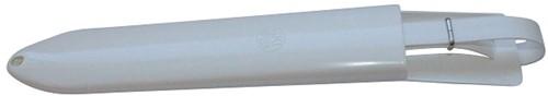 Schede voor 1 mes, wit kunststof met riem