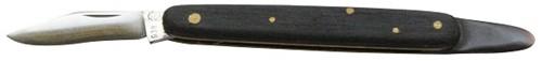 Copuleermes 9½ cm zwart woodplex heft