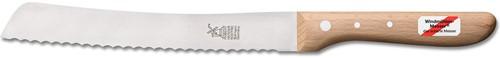 Broodmes 'Hochgeschliffen' met golven RVS 19,5 cm Roodbeuken Heft