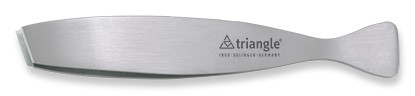 Triangle Visgratenpincet schuin roestvrij staal in doos 17,5 cm
