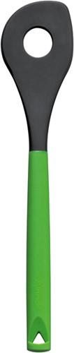 Sauslepel van siliconen kleur groen