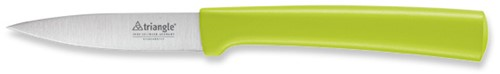 Aardappelschilmesje recht met punt in het midden 'Greengrip' lemmet 8 cm op ZB kaart