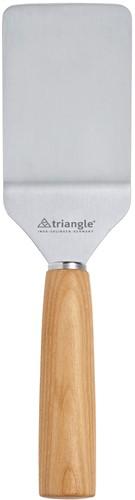 """Triangle """"Mood"""" Palet met knik 10 cm roestvrijstaal met kersenhouten heft"""