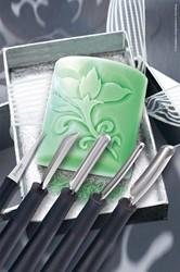 Kerfmesjes en decoreermesjes 5-delige set voor zeep in doos