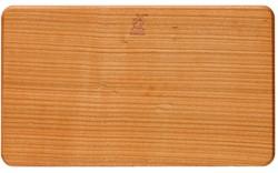 Snijplank rechthoekig kersenhout 22 x 13 x 1 cm