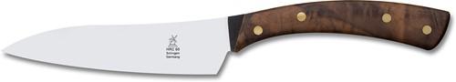 Robert Herder Flachschmieder Koksmes Handgesmeed 13 cm Carbon walnoot