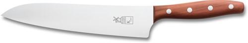 Het spiksplinter nieuwe, brede en extra grote koksmes K Chef is een professioneel koksmes speciaal ontworpen voor langdurig werken onder zware belasting. Het lemmet heeft een lengte van 225 mm en is ideaal voor alle snijwerkzaamheden.
