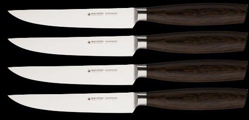 Felix Size S Smoked Oak Steakmessen set 4-delig zonder kartel