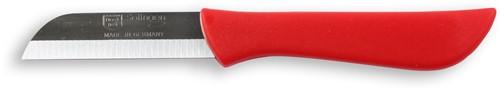 Solingen Aardappelmesje rood heft 6 cm dun lemmet roestvrijstaal 3 stuks op kaart