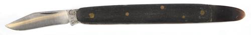P. Kamphaus Copuleermes 9½ cm zwart woodplex heft