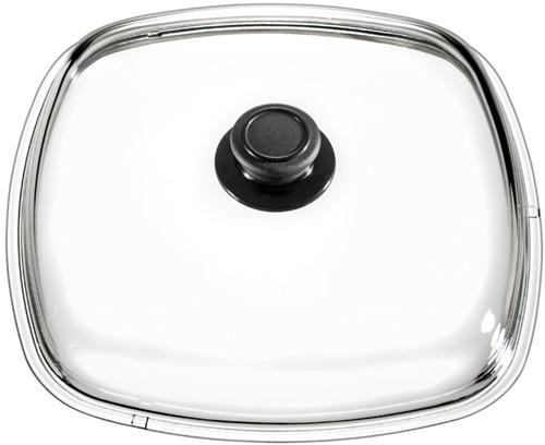Eurolux glazen deksel met knop 26 x 26 cm