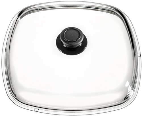 Eurolux glazen deksel met knop 28 x 28 cm