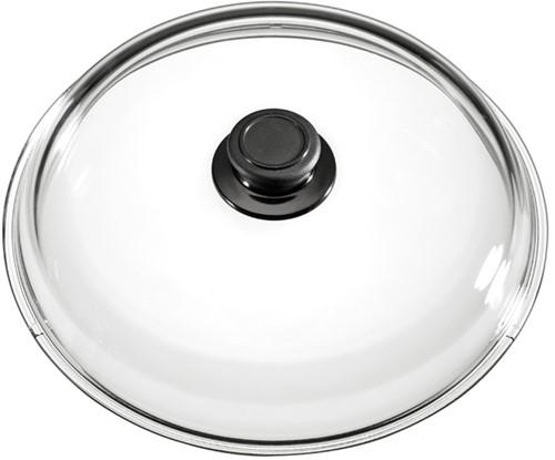 Eurolux glazen deksel met knop 18 cm