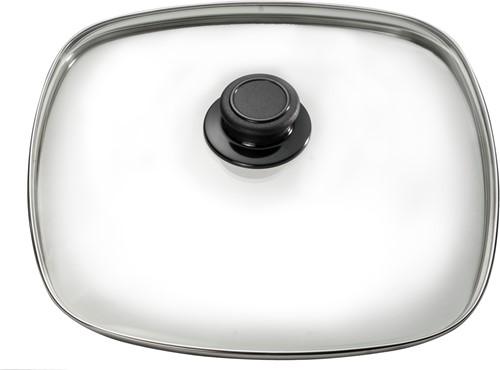 Eurolux glazen deksel met knop 24 x 24 cm