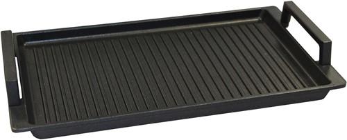 Eurolux grillplaat met grepen 41 x 24 x 2,5 cm inductie
