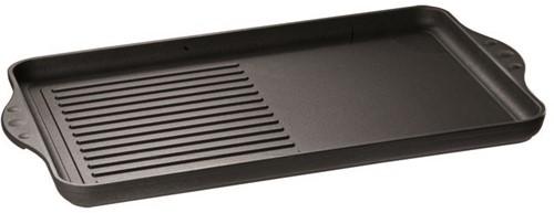 Eurolux grillplaat half geribbeld 43 x 28 x 2,5 cm inductie