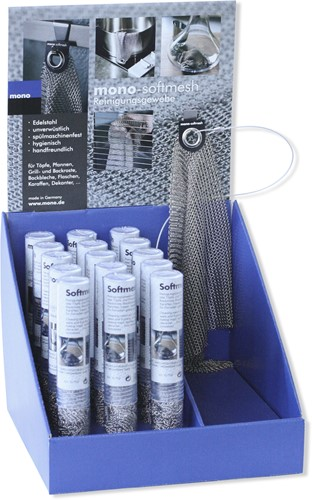 Mono Softmesh Displaybox met 15 stuks Softmesh en 1 presentatie exemplaar