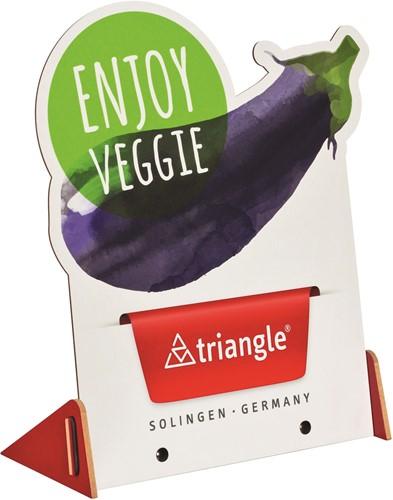 """Topkaart Triangle """"Veggie""""  voor display POS0006"""